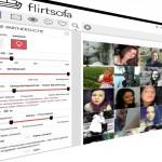 Singlesuche beim Onlinedating auf dem Flirtsofa